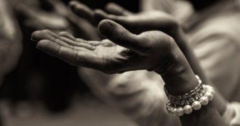 hands open in worship